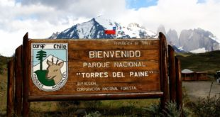 Nationalpark Torres del Paine: Willkommenstafel